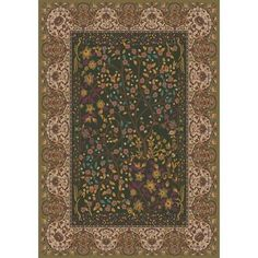 "Milliken Pastiche Kashmiran Balsa Dried Herb Green Area Rug Rug Size: 10'9"" x 13'2"""