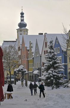 White days in Weiden, Bavaria, Germany, I've actually been here already as this is where I will give birth but I haven't been outside of the hospital yet. It's such a cute little town when we drive to get to the hospital though **