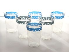 Use washi tape to make boring plastic cups prettier  http://blog.diynetwork.com/maderemade/2013/07/26/why-i-love-washi-tape-and-you-should-too?soc=pinterest