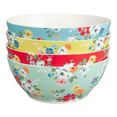 Set of 4 Clifton Rose Cereal Bowls - Cath Kidston