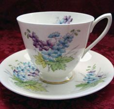 RP: Royal Albert Flower of the Month - Smooth Shape Tea Cup Larkspur - July