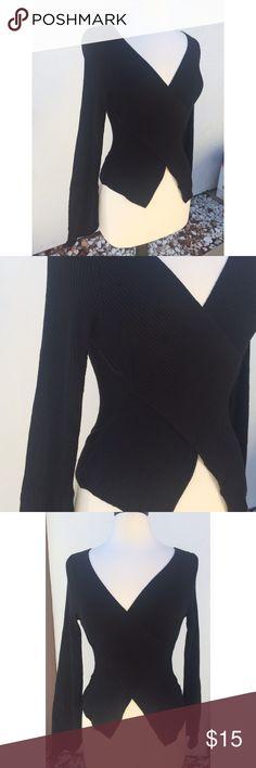 Very Pretty Preloved Cross Top Very Pretty F21 Knitted Preloved Cross Top - 75% Acrylic 20% Nylon 5% Spandex Forever 21 Tops