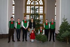Crown Princess Victoria'of Sweden and Princess Estelle receive their Christmas tree at Haga Palace 12/17/2013