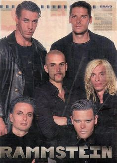 An early Rammstein magazine clipping. In this picture it's particularly striking how young Riedel is, having been just 23 when the group began. This compared to the oldest member, Till, who was 31.