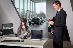 immersive AUDI VR experience enables customers to configure dream car - designboom | architecture