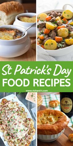 20 Amazing St Patrick's Day food recipes you need to make! These St Patrick's Day food ideas are so yummy! 20 Amazing St Patrick's Day food recipes which yuou have to try! These St Patrick's Day food ideas are simply delicious! Sausage Recipes, Crockpot Recipes, Oven Recipes, Food Themes, Food Ideas, Meal Ideas, Holiday Recipes, Dinner Recipes, St Patricks Day Food