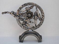 Circle metal sculpture handmade by Giannis Dendrinos Circle Shape, Sculptures, Metal, Handmade, Art, Art Background, Hand Made, Kunst, Sculpting