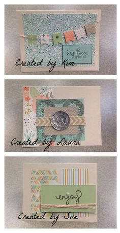 Stampin' Up!, Sweet Sorbet, Petal Parade cards (created at class with Demonstrator Kerry Willard Bray)