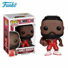 Build your own NBA championship dream team! The biggest stars of basketball are stepping off the courts and into Pop! This NBA James Harden Pop! Vinyl Figure measures approximately 3 tall and comes packaged in a window display box. Rockets Basketball, Basketball Players, Nba Rockets, Basketball Birthday, Basketball Uniforms, Sports Basketball, Nba Players, Sports Teams, Basketball Court