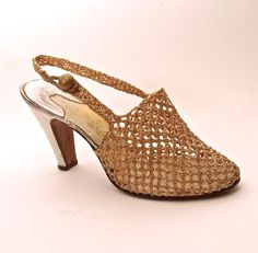 Fc0078 shoes of machine stitched brown textile with t for Saks fifth avenue wedding dresses los angeles