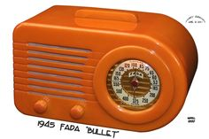 "Catalin Radio -  Fada ""Model 1000 Bullet"" Art Deco style made of catalin . Mfg. by FADA Radio and Electric Co., Long Island, NY (1940-1946)"