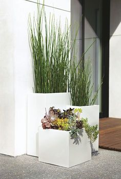 Room And Board Planters Terrace In White Outdoor