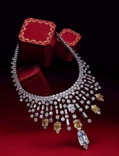 Cartier diamond collar necklace. Their pieces always seem like a fantasy, a sparkly one!