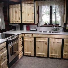 Pallet kitchen cabinets - 42 More Creative DIY Rustic Kitchen Decoration Idea for Small Space – Pallet kitchen cabinets Pallet Kitchen Cabinets, Rustic Cabinets, Farmhouse Kitchen Cabinets, Diy Cabinets, Kitchen Cabinetry, Kitchen Cabinets Made From Pallets, Unfinished Cabinets, Diy Cabinet Doors, Pallet Cabinet