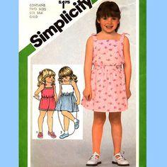 330 Simplicity 5121 Childs Romper & Mock Wrap by ladydiamond46