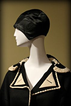 1920s sleek satin cloche hat via Phoenix Art Museum