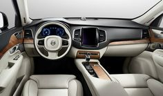 Road Testing the All-New Volvo XC90 T6 AWD: XC90 has a clean, elegant dash that removes clutter through intuitive use of a touchpad and simple controls.