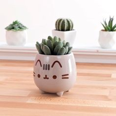 ← Shop Link in Bio ←⠀ Add some Spring to your shelves with this adorable Pusheen planter - NEW at 🌱 Pusheen Cute, Pusheen Stuff, Kawaii Room, Cute Room Decor, Decoration, Cool Things To Buy, Planters, Stationery, Pottery
