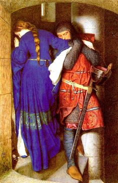Frederic William Burton: The Meeting on the Turret Stairs                       1864         There is a big black framework in one of the chambers of&…