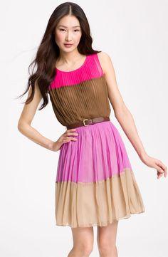 Julie Dillon: http://shop.nordstrom.com/s/julie-dillon-colorblock-chiffon-dress/3278063?origin=category&resultback=2086
