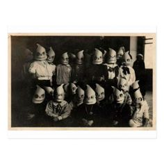 Vintage halloween's costumes photo in Ireland Postcard