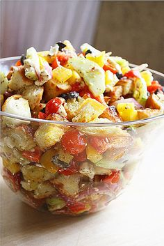 The Comfort of Cooking » Greek Panzanella Salad