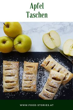 Apfeltaschen - Famous Last Words Apple Recipes With Puff Pastry, Peach Puff Pastry, Easy Puff Pastry Recipe, Puff Pastry Desserts, Puff Pastry Dough, Frozen Puff Pastry, Napoleon Dessert, Puff Pastry Chicken, Napoleons Recipe