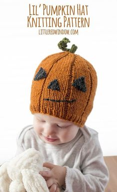 b6f36160de9e2 Lil Pumpkin Hat Knitting pattern by Cassandra May Halloween Knitting  Patterns