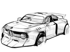 Sports Cars of 2019 Bmw Design, Car Design Sketch, Bmw Sketch, Sketch Photoshop, Industrial Design Sketch, Hand Sketch, Sketch Inspiration, Car Drawings, Transportation Design