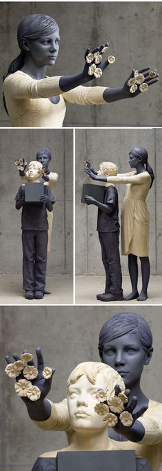 willy verginer - wood sculptures