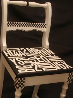 Forever Decorating!: Subway Art Chair