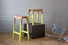 Choice Halikko Stools Oak Yellow Collection