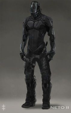 Sleek black body armour credit to whoever drew this: