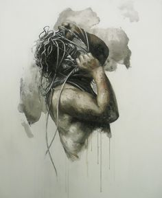 "Xavier Jallais - ""Autographie (trilogy) - Ash, sand, acrylic & oil on canvas, 100 x 120 (cm) Were All Mad Here, Chef D Oeuvre, Painting, Statue, Artwork, Ash, Canvas, Paint, Tela"