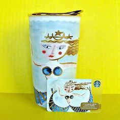 DoubleQuicktime - Starbucks Siren Double Wall Insulated Travel Tumbler Mug Ceramic Cup Mermaid Dot for USD49.99 (Earn USD0.00 as referral,Learn How Here)