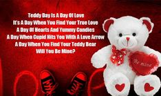 Happy Teddy Day Pic: Get the details for Happy Teddy Day Pic 2020 Images Photos Pictures Wallpaper Wishes Status Shayari Messages Quotes GIF, Happy Teddy bear Day Teddy Day Pic, Teddy Day Photos, Happy Teddy Day Images, Happy Teddy Bear Day, Valentine Day Week, Happy Valentine Day Quotes, Bear Valentines, Happy Promise Day, Happy Kiss Day