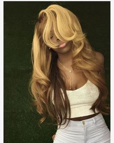 Blonde Wig, Blonde Ombre, Ombre Hair, Ash Blonde, Blonde Weave, Frontal Hairstyles, Weave Hairstyles, Hairstyles 2018, Straight Hairstyles