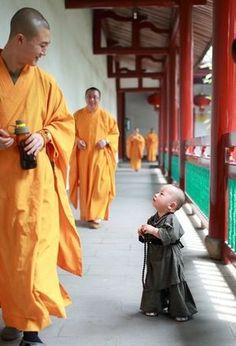 """un petit """"moine bouddhiste"""""""