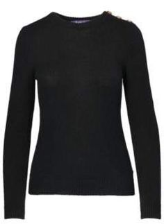 Ralph Lauren Buttoned Cashmere Sweater Black M. Ralph Lauren fashions. I'm an affiliate marketer. When you click on a link or buy from the retailer, I earn a commission.