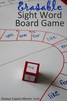 Board games 174514554286282465 - Erasable Sight Word Board Game: or leave blank with white board markers for kids as a provocation? Source by ktictac Teaching Sight Words, Sight Word Practice, Sight Word Games, Sight Word Activities, Vocabulary Activities, E Learning, Learning Activities, Kindergarten Reading, Teaching Reading