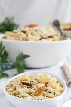Recipe: Orzo Salad with Roasted Cauliflower, Pine Nuts, and Parsley
