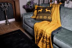 Luxury knitted blankets and cushions LittleEye. Knitted Blankets, Wingback Chair, Accent Chairs, Cushions, Luxury, Furniture, Home Decor, Upholstered Chairs, Throw Pillows