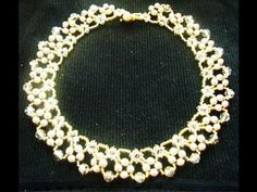 Elegant Beaded Swarovski Necklace - YouTube