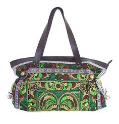 """Can't get enough of our """"Fresh Green"""" embroidered HMONG Hill Tribes bag <3 #ethniclanna"""