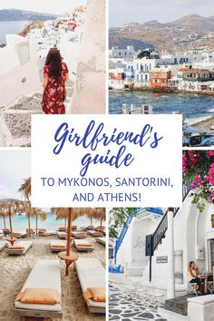 Top things to do on your girls trip to Greece! Mykonos Greece, Santorini, Crete Greece, Athens Greece, The Places Youll Go, Cool Places To Visit, Places To Go, Girls Vacation, Vacation Trips