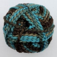 Perla color by Grundl - Brown-turquoise mix 3354-15, bulky yarn by ColorfullmadeShop on Etsy