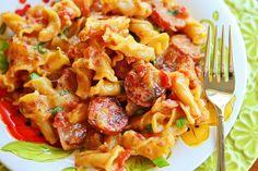 Spicy, Creamy, Cheesy Sausage Pasta