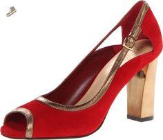 Cole Haan Women's Corinne OT Dress Pump,Velvert Red Suede,7 B US - Cole haan pumps for women (*Amazon Partner-Link)
