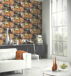 This multicoloured film-strip version of London further enhanced with high gloss and glitter makes of this wallpaper a unique design that will transform any room into an urban and fashionable...