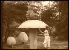 my gif gif film vintage Alice In Wonderland english silent film Lewis Carroll caterpillar intertitle 1915 w w young viola savoy